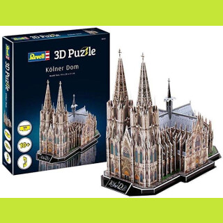 Revell 00203-3D Puzzle, mehrfarbig Kölner Dome