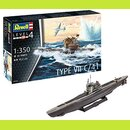 Revell 05154 12 Modellbausatz German Submarine Type VII...
